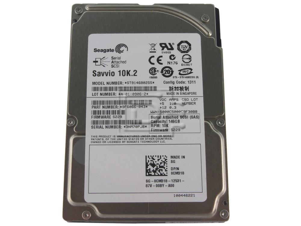Seagate ST9146802SS GP881 UP932 0GP881 0UP932 CM318 0CM318 0HM407 HM407 SAS Hard Drives image 1