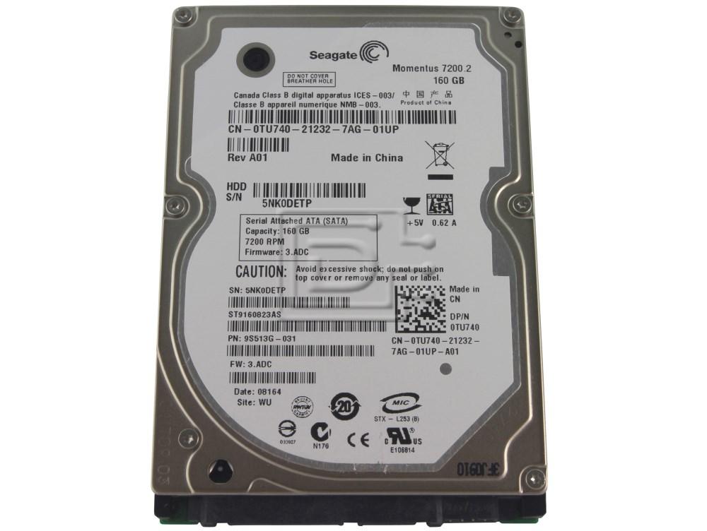 Seagate ST9160823AS SATA Hard Drive Seagate Momentus 160GB 7.2K 7200 RPM image 1