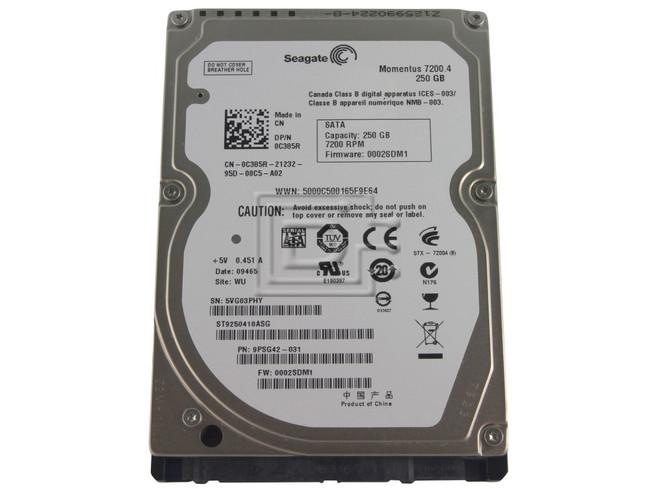 Seagate ST9250410ASG 0C385R C385R 9PSG42-032 SATA Hard Drive image 1