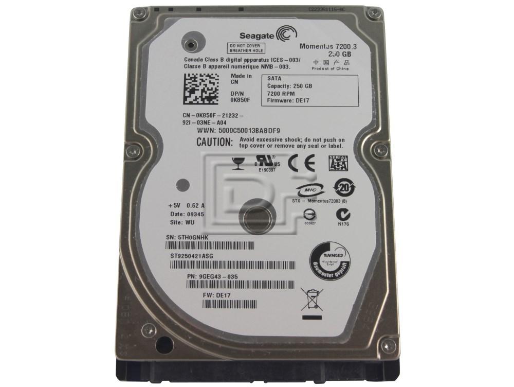 Seagate ST9250421ASG SATA Hard Drive image 1