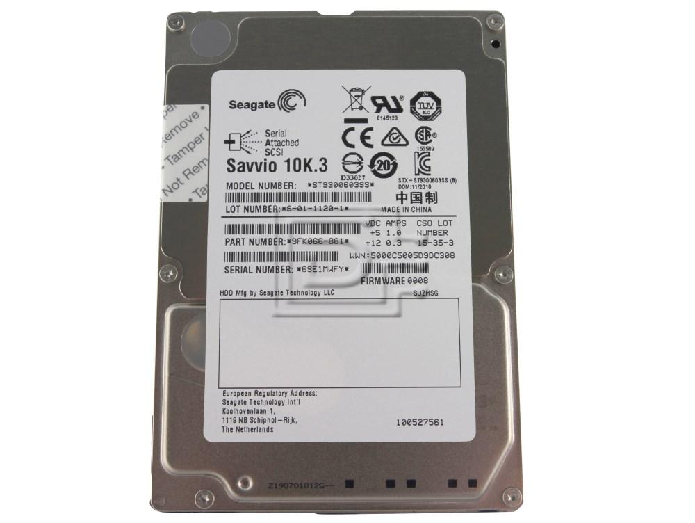 Seagate ST9300603SS 95K066-066 SAS Hard Drives image 1