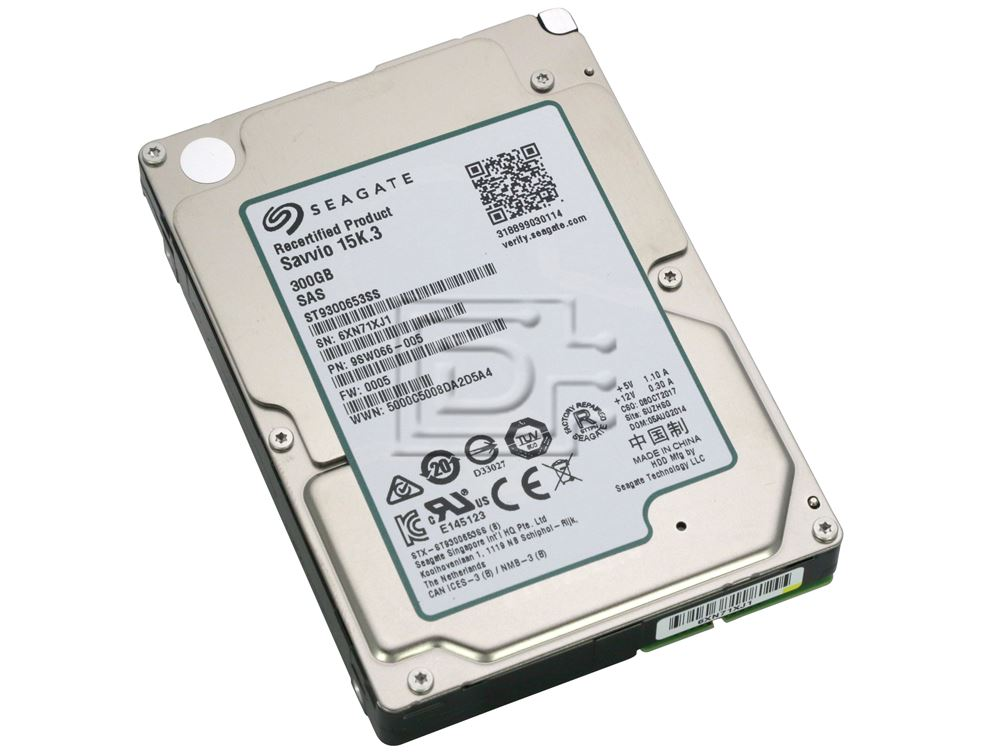 "300GB Seagate Savvio SAS 6GB//s 15000RPM 2.5/"" Internal Hard Drive ST9300653SS"