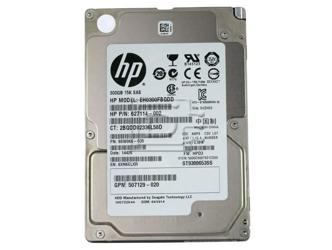 Seagate ST9300653SS 627114-002 507129-020 EH0300FBQDD SAS Hard Drives image 2