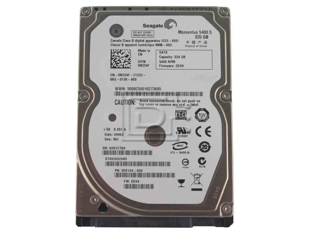 """Seagate ST9320320AS N234F 0N234F 2.5"""" SATA Hard Drive image 1"""
