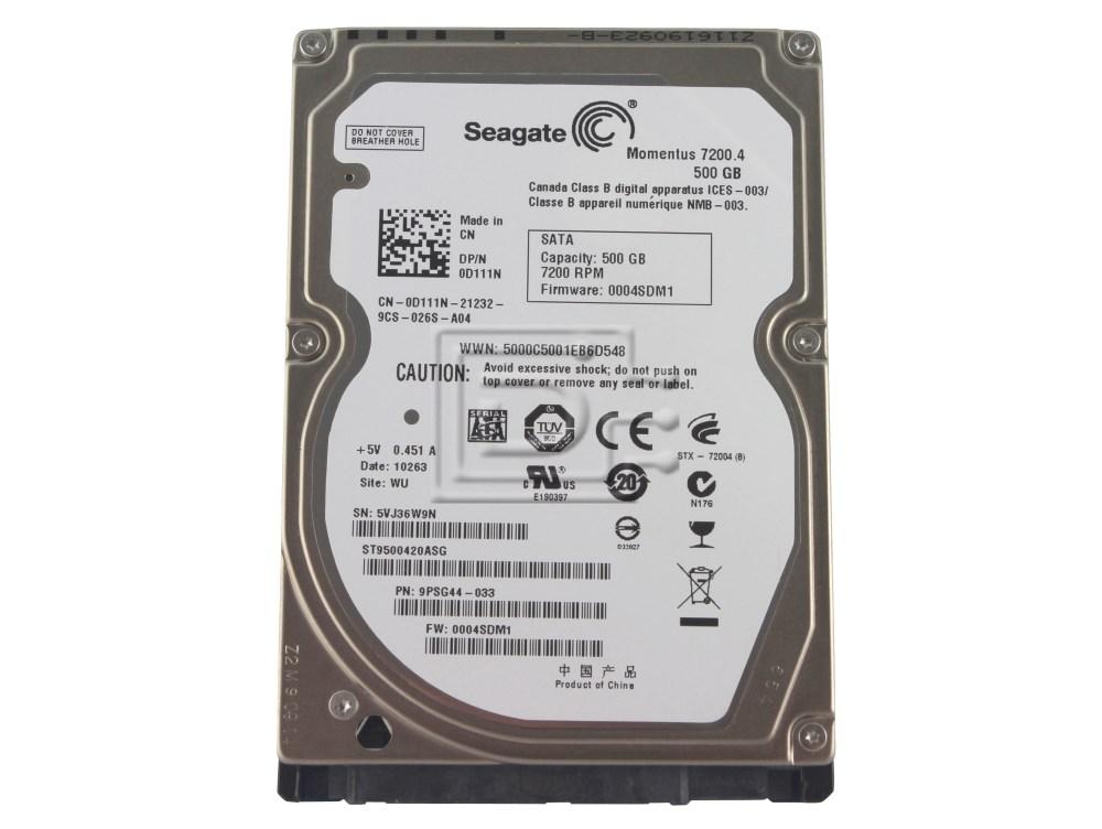 Seagate ST9500420ASG 0D111N D111N SATA Hard Drive image 1