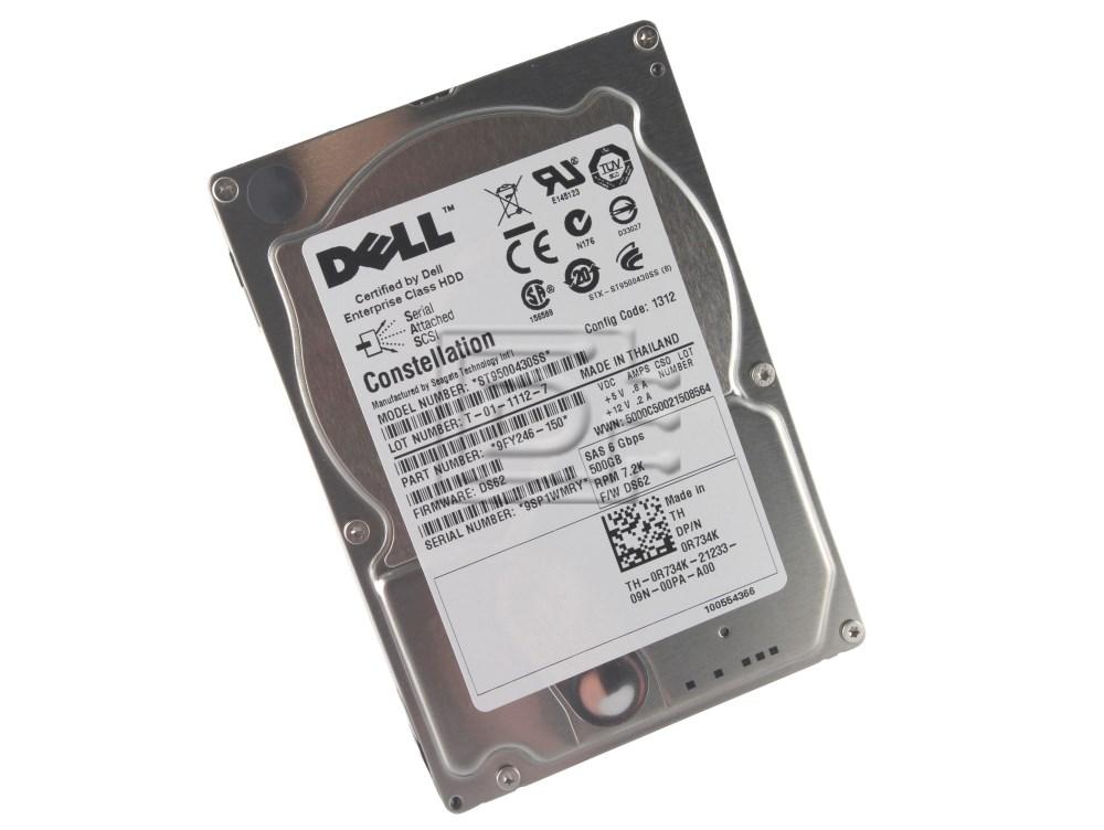 Seagate ST9500430SS 0K831N K831N 9FY246 9FY246-050 TH-0K831N-21233-965-00EA-A00 R734K 0R734K SAS Hard Drive image 1