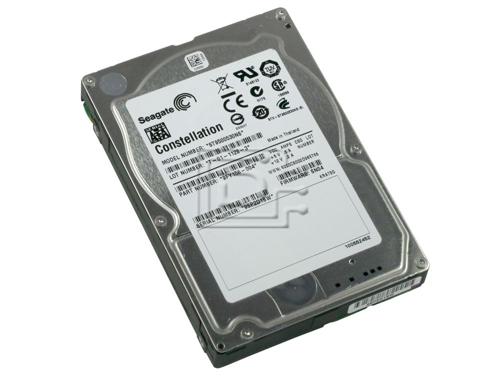 Seagate ST9500530NS 9Y156-001 SATA Hard Drive image 1