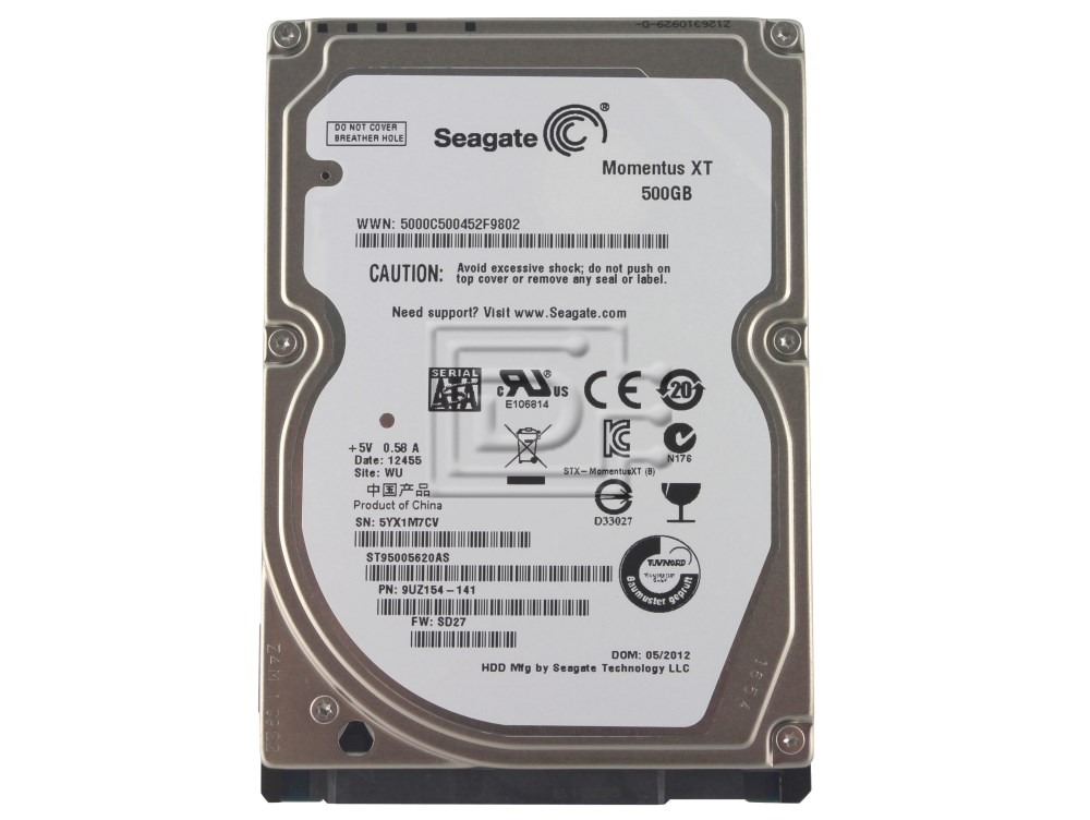 Seagate ST95005620AS SATA Hard Drive Solid State Hybrid image 1