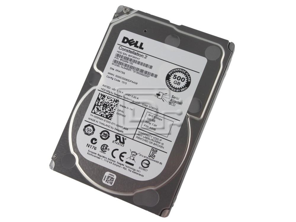 GENUINE Dell Seagate Constellation.2 500GB SAS 6 Gbps 7.2K RPM Hard Drive 55RMX