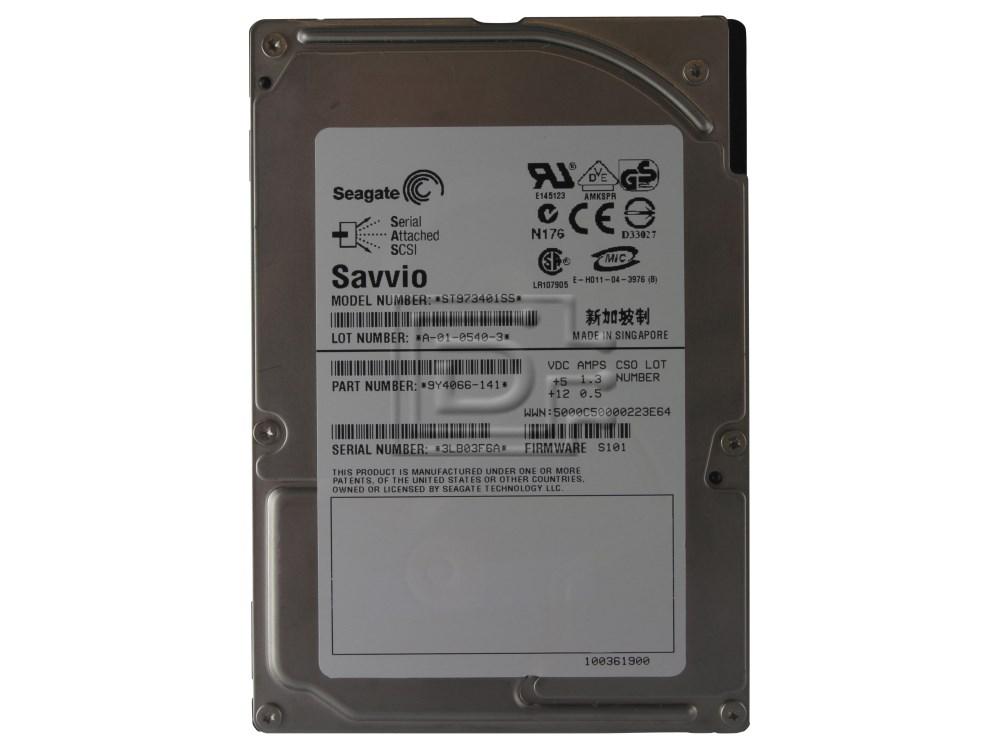 """LOT OF 2 HP Fujitsu MBC2073RC 73GB 15K RPM 3Gb//s SFF 2.5/"""" SAS Server Hard Drive"""