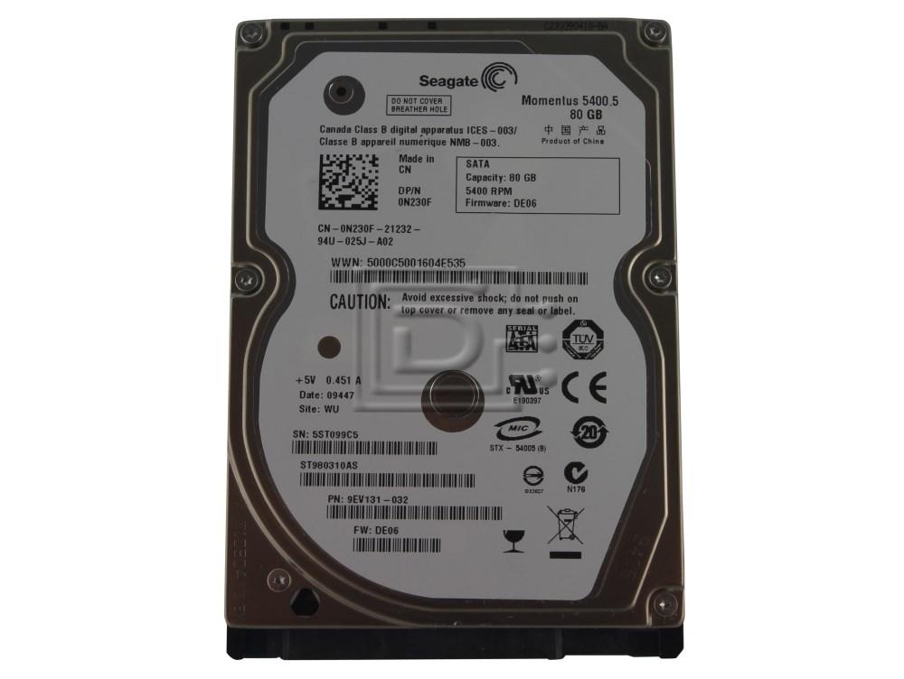 Seagate ST980310AS N230F 0N230F SATA Hard Drive image 1