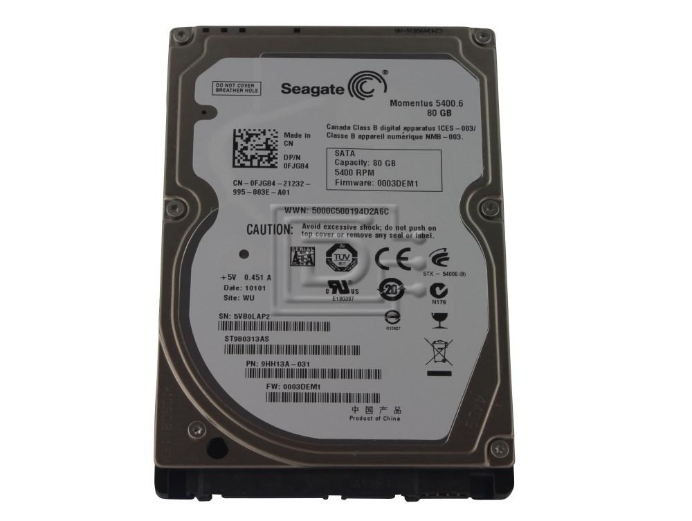 Seagate ST980313AS FJG84 0FJG84 SATA Hard Drive image 1