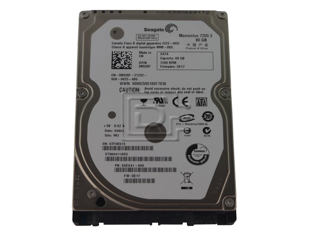 Seagate ST980411ASG 0N528F N528F SATA Hard Drive image 1