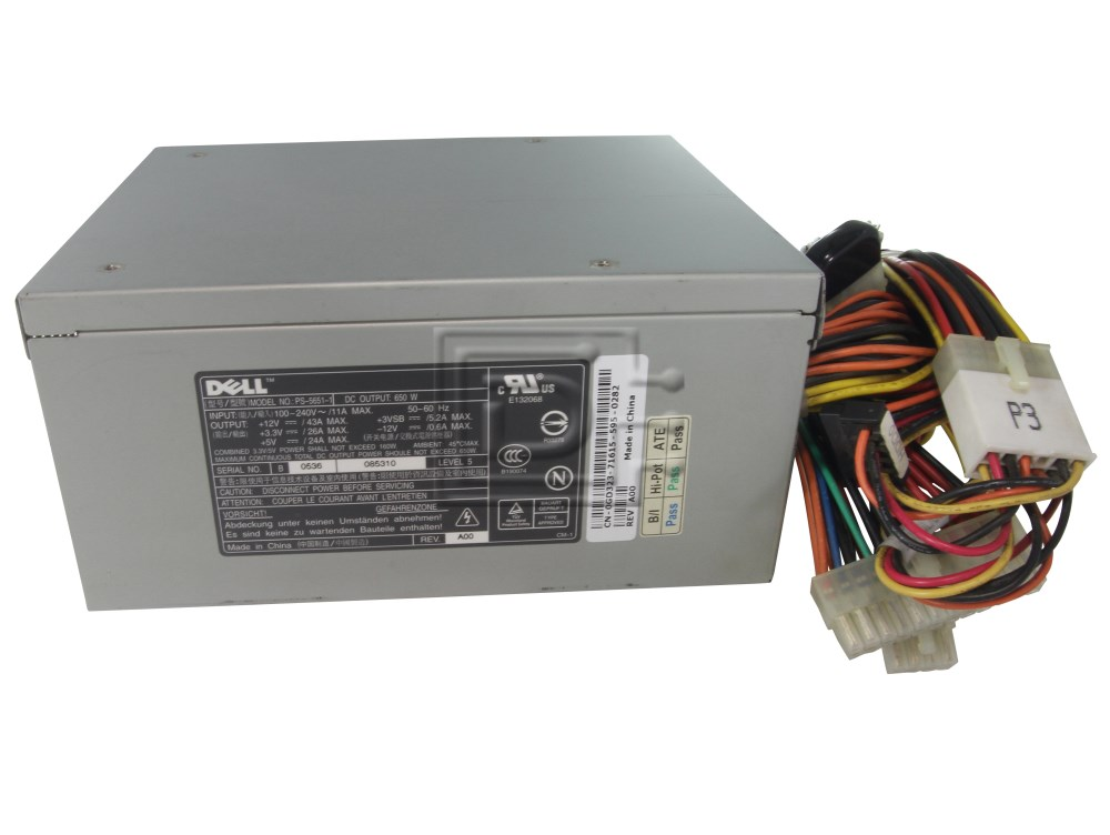 Dell TJ785 0TJ785 GD323 C4797 0GD323 0C4797 U2406 0U2406 PowerEdge 1800 650W Power Supply image 2