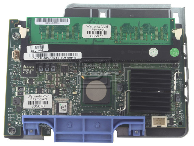 Dell TU005 HG129 SAS / Serial Attached SCSI RAID Controller Card image 2