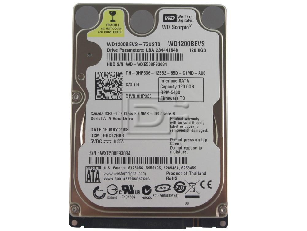 "Western Digital WD1200BEVS 2.5"" IDE Hard Drive image 1"