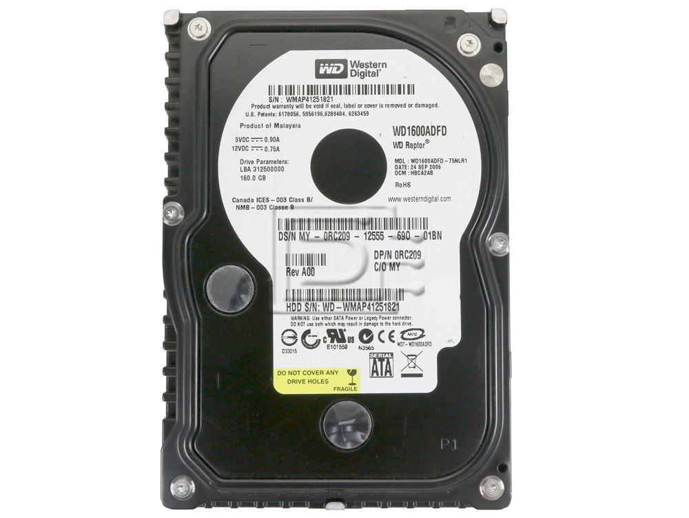 "WD1600ADFD Western Digital 160GB Raptor 3.5/"" 10K"