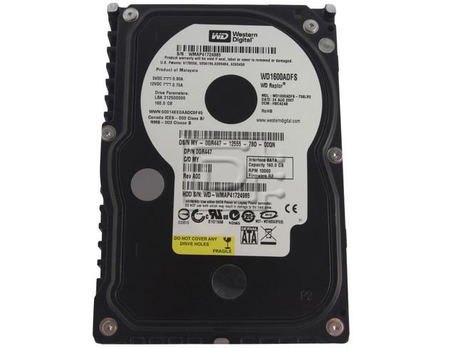 Western Digital WD1600ADFS 0GR447 GR447 Raptor SATA Hard Drive image 1