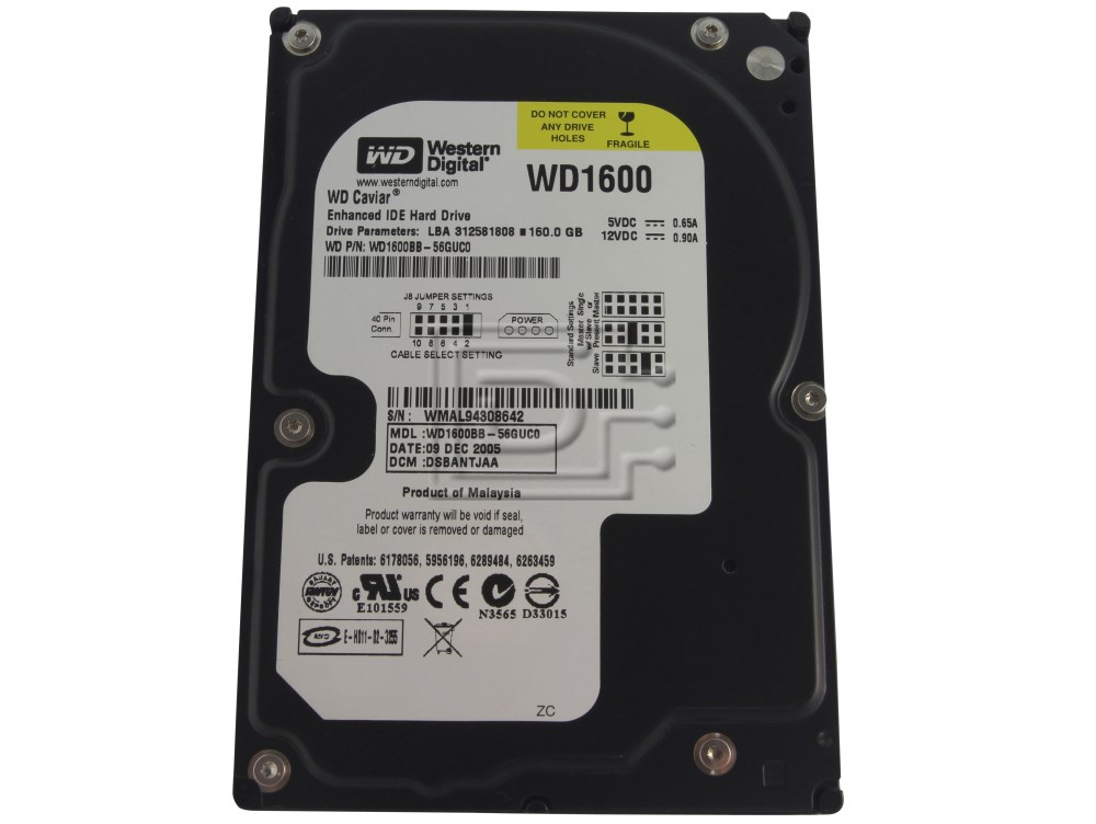 Western Digital WD1600BB WD1600BB-56RDAO EIDE Hard Drive image 1