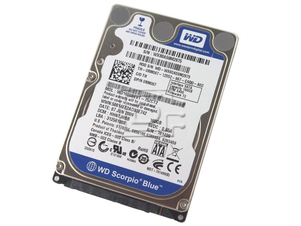 "Western Digital WD1600BEVT RM067 0RM067 2.5"" SATA Hard Drive image 1"