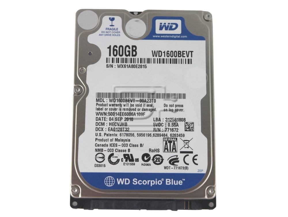 "Western Digital WD1600BEVT 2.5"" SATA Hard Drive image 1"
