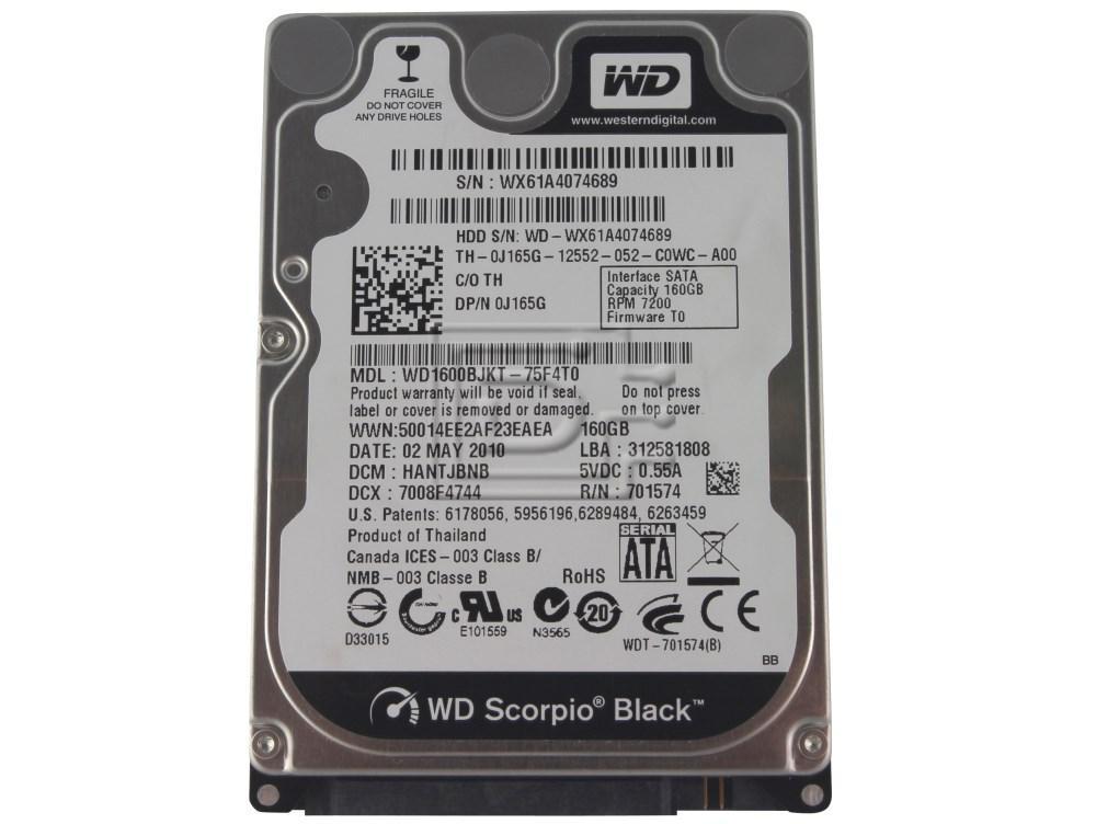 """Western Digital WD1600BJKT J165G 0J165G SATA Hard Drive 2.5"""" 320GB 7.2K 72000 RPM image 1"""