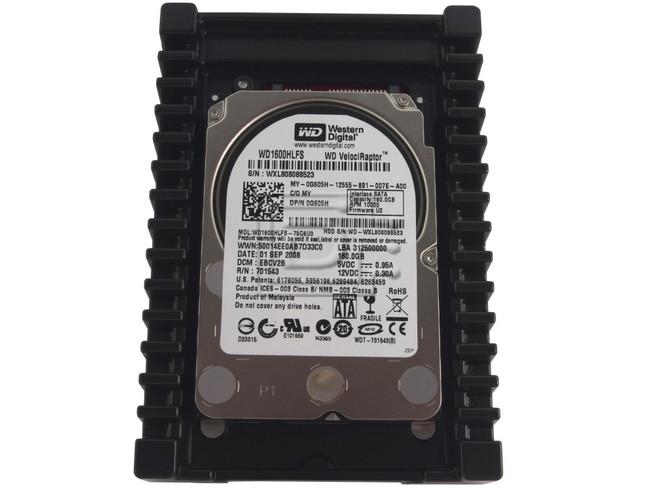 Western Digital WD1600HLFS 0N963M N963M 0G605H G605H VelociRaptor SATA Hard Drive image 1
