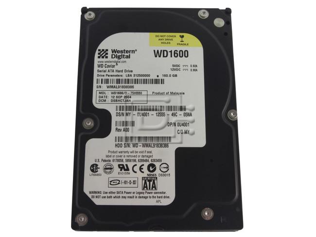 Western Digital WD1600JD 0U4001 U4001 SATA Hard Drive image 1