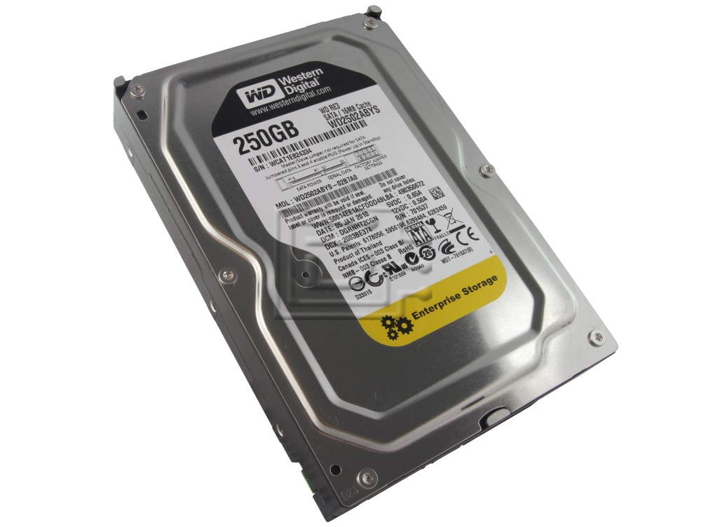 Western Digital WD2502ABYS Western Digital Caviar RE3 WD2502ABYS 250GB 7.2K Enterprise SATA Hard Drive image 1