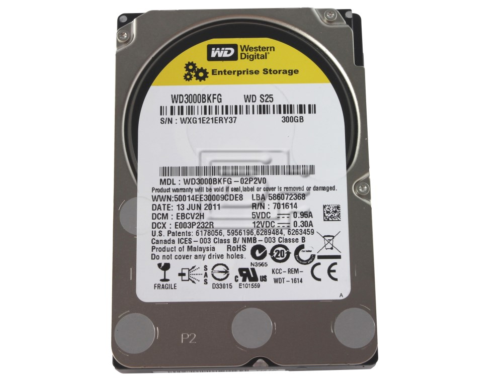 Western Digital WD3000BKFG Enterprise SAS Hard Drive image 1