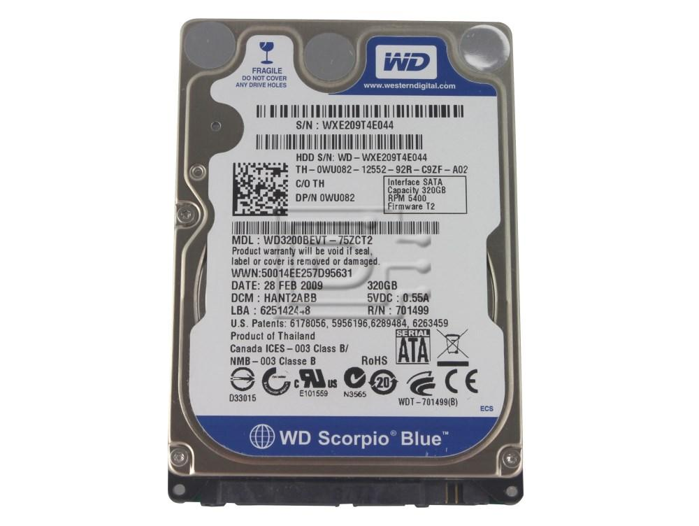 "Western Digital WD3200BEVT PW059 0PW059 2.5"" SATA Hard Drive image 1"