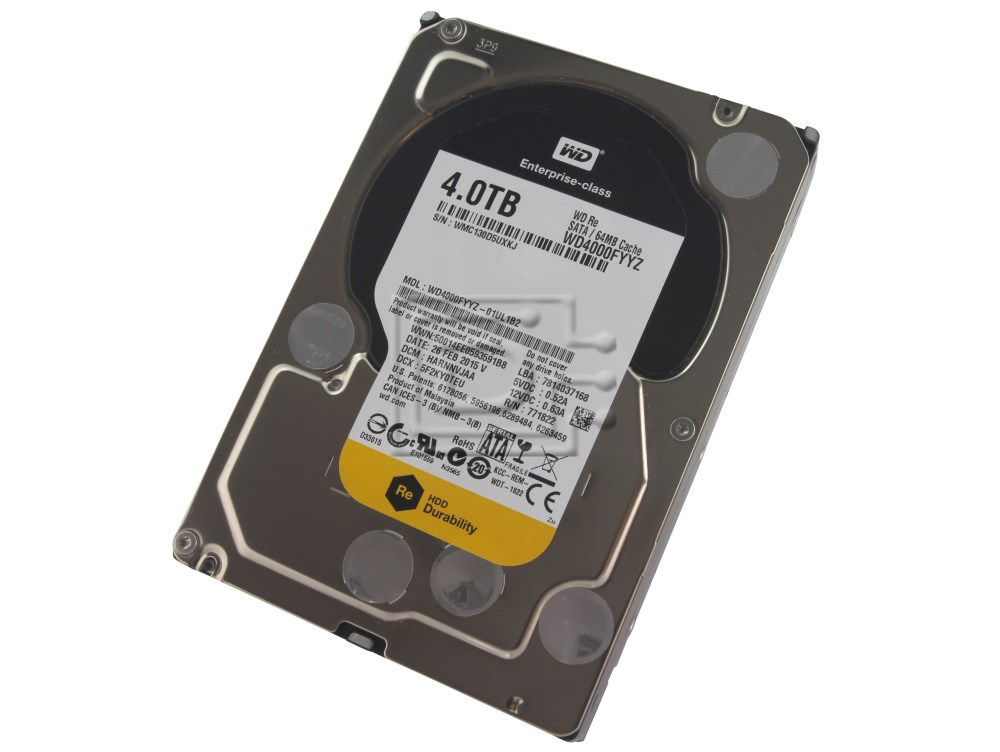 Western Digital 4TB BLACK Enterprise Class Hard Drive WD 6 Gbs 64mb WD4000F9YZ