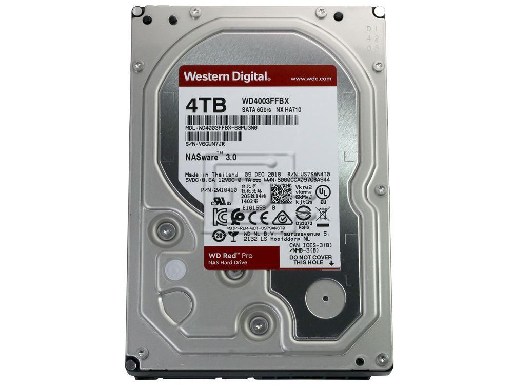 Western Digital Wd4003ffbx 4tb 3 5 7 2k Rpm 512e Wd Red Pro Nas Sata Hard Drive