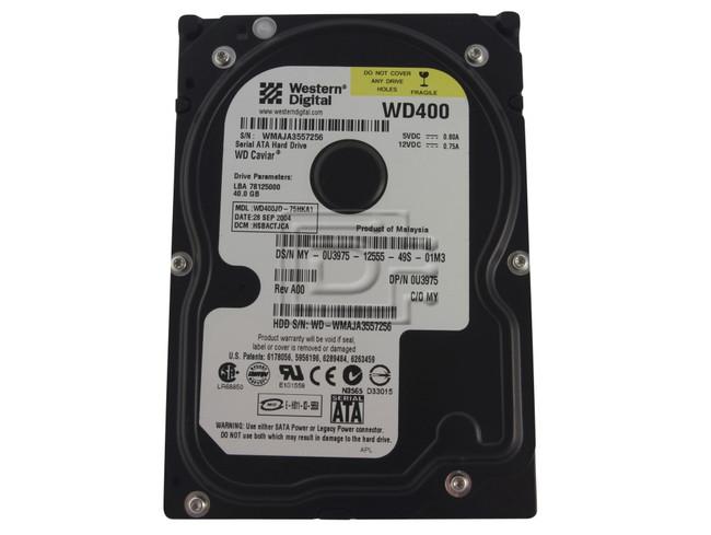 Western Digital WD400JD U3975 0U3975 SATA Hard Drive image 1