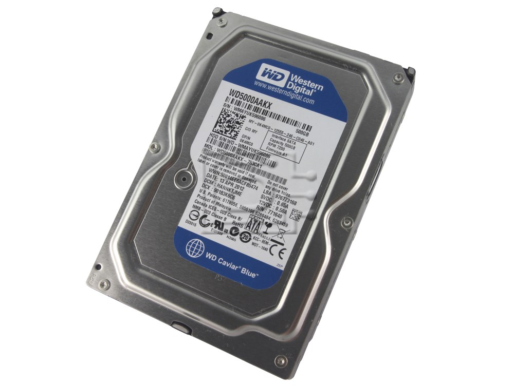 Western Digital WD5000AAKX K4MC0 0K4MC0 SATA Hard Drive image 1