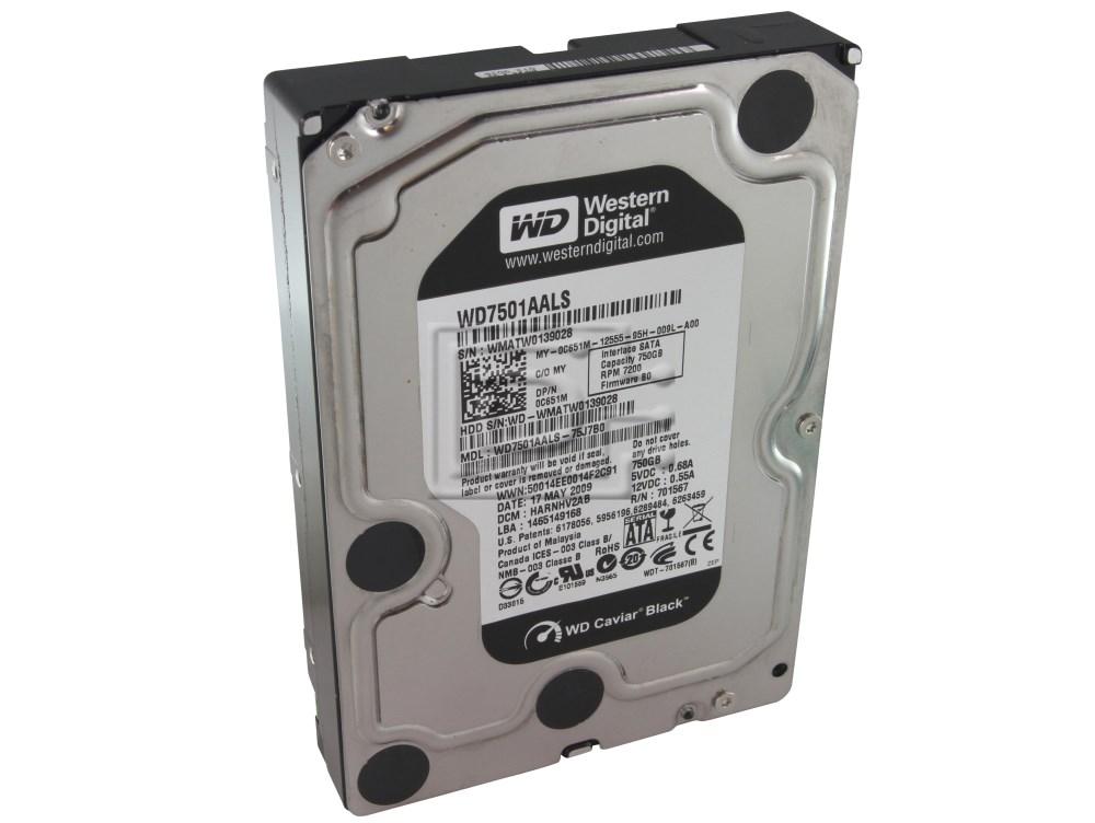 Western Digital WD7501AALS C651M 0C651M SATA Hard Drive image 1