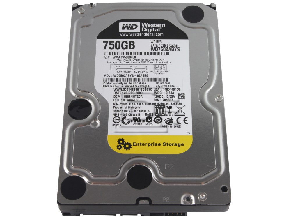 Western Digital WD7502ABYS SATA Hard Drive image 1