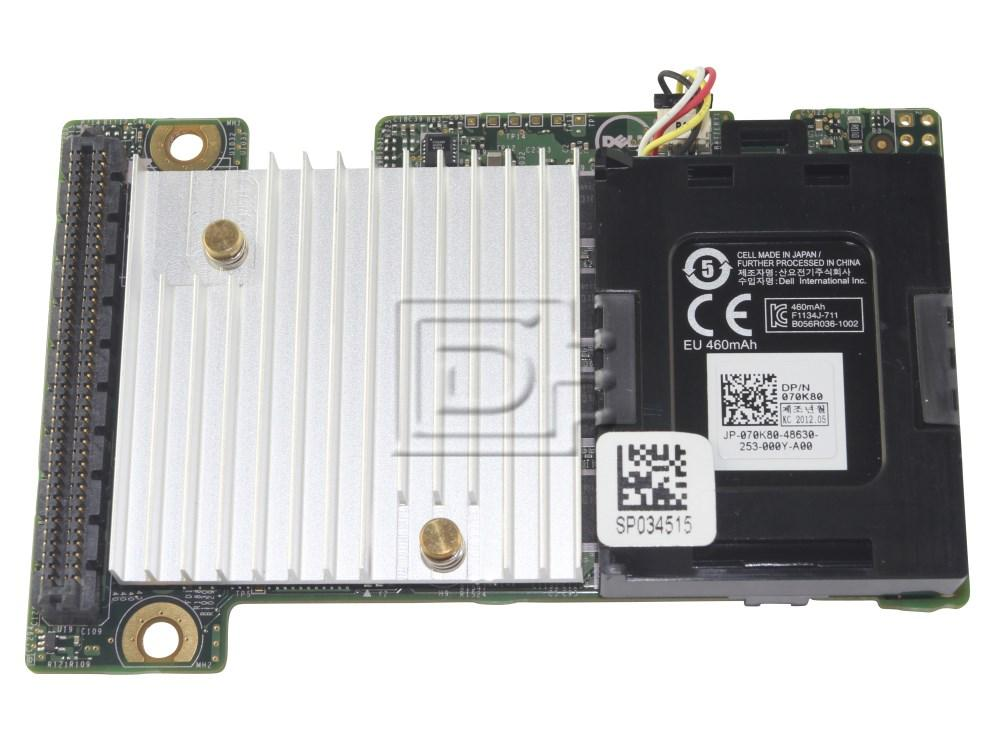 Dell PERC H710 512MB Blade Raid Controller WR9NT with battery 70K80