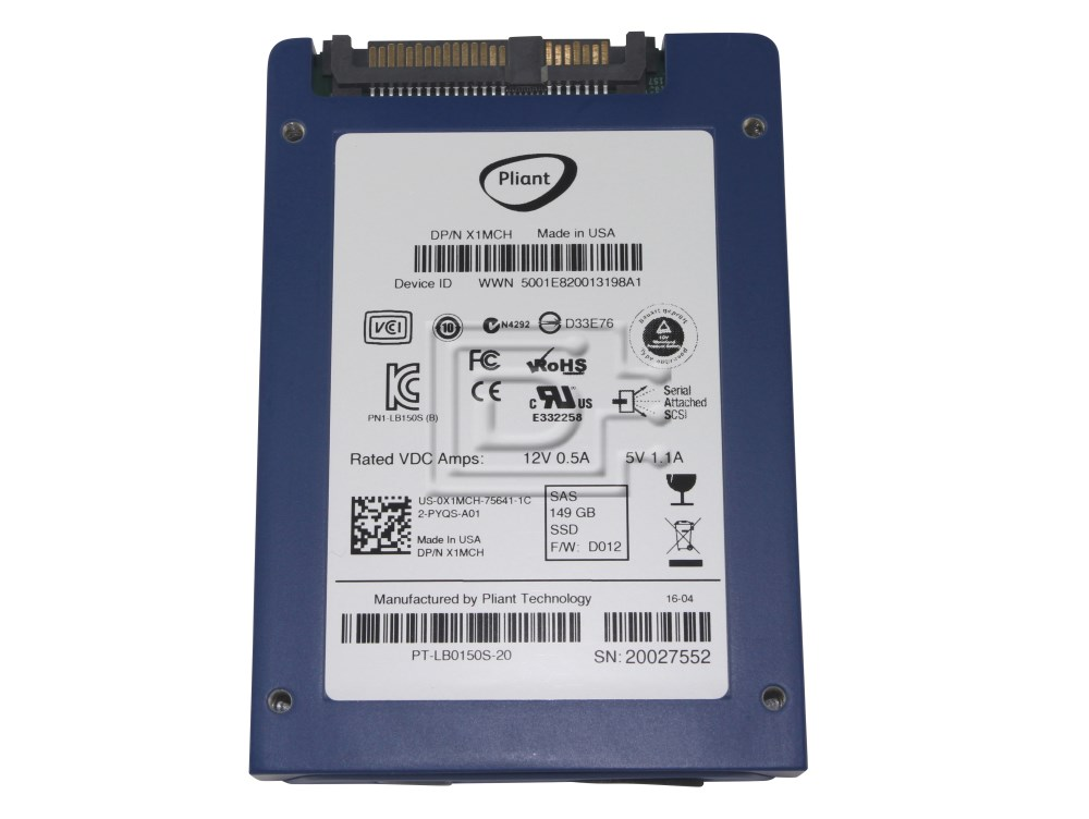 Dell X1MCH 0X1MCH 6T92M 06T92M PT-LB-0150S-00 PT-LB-0150S-20 149GB SAS SSD Drive image 2